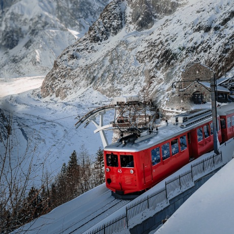Panoramic view of the Mer de Glace & Montenvers - ½ Day Trip